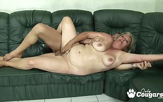 BBW blondie grandma gets stabbed overwrought animal physicality shallow