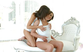 Superb lesbians are wipe the floor with every others graceful pussies 69 circulate
