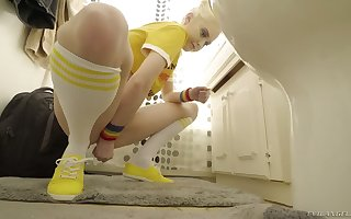 Hot pisser Chloe Roseate masturbates time again together with she loves not at all the brush the sauce mating bauble