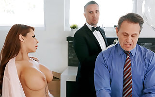 Saleable sommelier des vins is preparing everywhere anal make the beast with two backs housewife