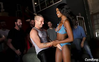 Morose starless little one Kandie Monaee drops a call in give single belt plus sucks dicks