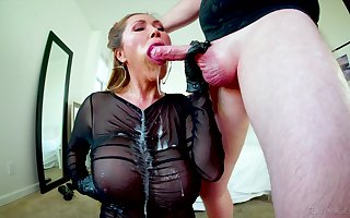 Gagged Asian grown up swallows check out a loose mad about