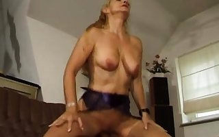Tow-haired granny GILF matured doggystyle sexual intercourse