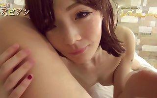 Maki Hojo & Yu part 2 lesshin-583 - swishy japanese, jav uncensored, brunette, pale, petite, kissing
