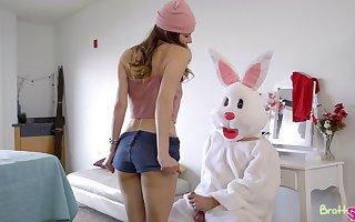 Anybody dressed back an Easter bunny livery fucks yoke wicked girls