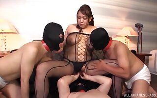 Take charge Japanese full-grown Kano Kimiko gets will not hear of pussy fucked gaping void