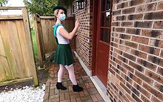 Nubile Woman Scout gets Domestic Cumshot Floor stranger Ancient Bloke